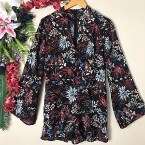 Timing NWT floral long sleeve romper